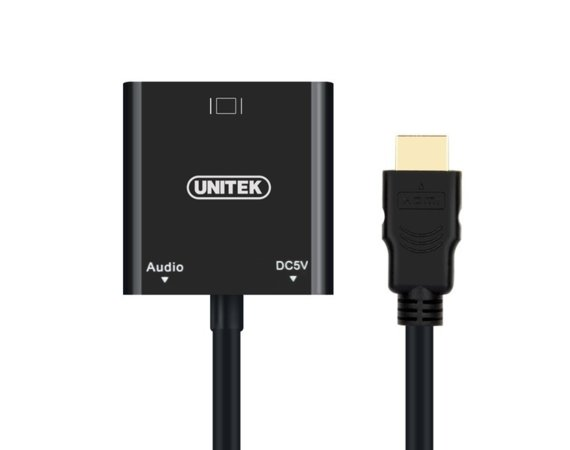 Unitek Adapter HDMI to VGA + AUDIO; Y-6333
