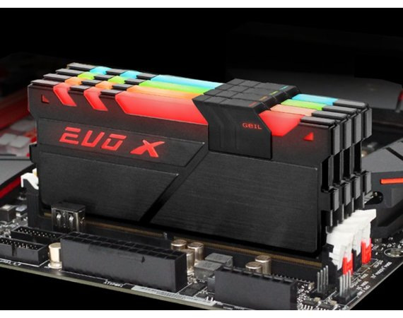 GeIL DDR4 EVO X RGB LED 16GB/2400 (2*8GB) CL16-16-16-36
