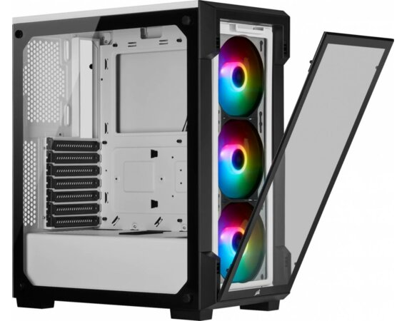Corsair iCUE 220T RGB TG Mid Tower WHITE