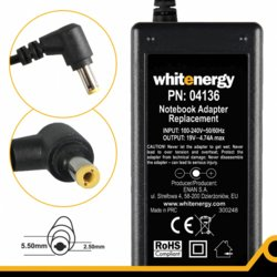 Whitenergy Zasilacz 19V | 4.74A 90W wtyk 5.5*2.5mm (04136)