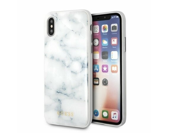 GUESS GUHCPXHYMAWH hardcase iPhone X biały