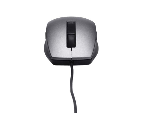 Dell Laser Scroll USB (6 Buttons) Silver and Black Mouse (Kit)