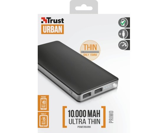Trust Powerbank Primo Thin 10000