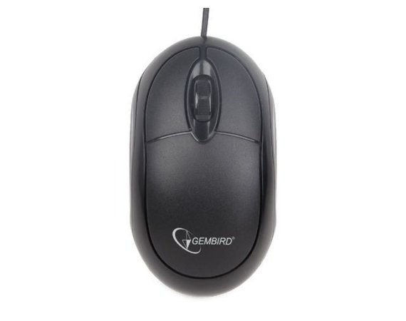 Gembird Mysz OPTO 1-SCROLL USB (MUS-U-01) Black