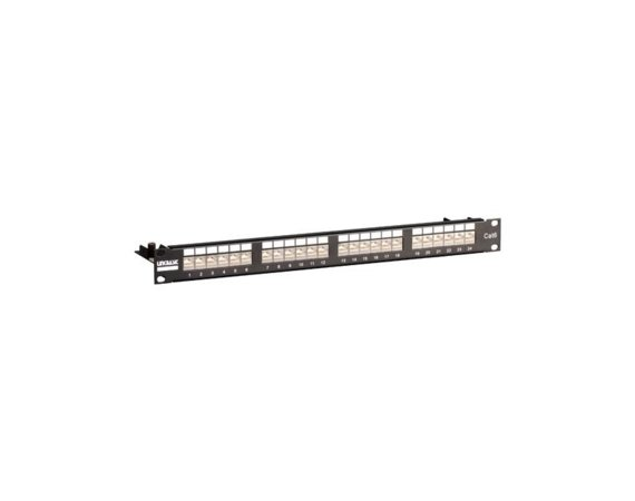 "Linkbasic Patch panel 19""/1U, STP, kat. 6, 24 porty, półka organizująca kable"