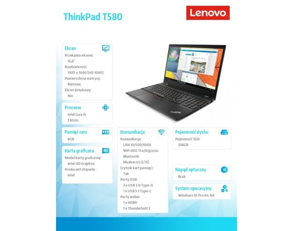 Lenovo ThinkPad T580 20L90020PB