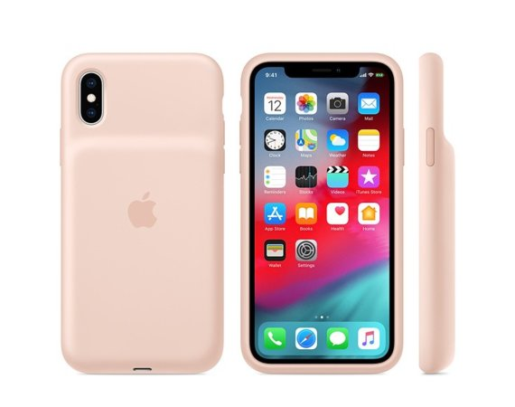 Apple Etui Smart Battery Case iPhone XS - piaskowy róż