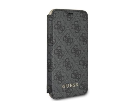 GUESS Etui book GUFLBKPXGF4GGR iPhone X szary 4G Charms Collection