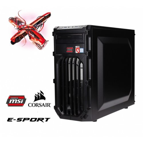 OPTIMUS *E-Sport MB250T-CR5 i5-7400/8GB/1TB/GTX1050Ti 4GB RED LED