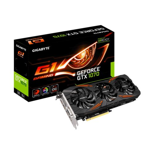 Gigabyte Karta graficzna GeForce GTX 1070 8GB DDR5 256BIT 2DVI/HDMI/3DP