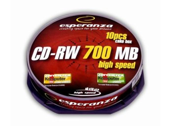 Esperanza CD-RW 700MB x12 - Cake Box 10