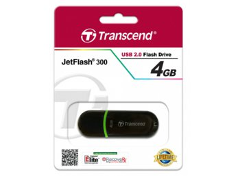Transcend JETFLASH 300 4GB USB2.0 BLACK