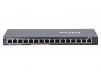Netgear ProSafe switch L2 16x10/100 (8xPoE) Desktop Metal NO FAN FS116PEU