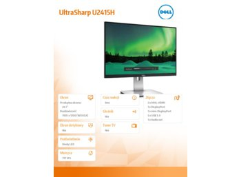 "Dell 24.1"" UltraSharp U2415H LED IPS AG 1920x1200 2xHDMI(MHL)/1xMDP/DP/5xUSB 3.0/pivot/gaming mode 6ms/3YPPG"