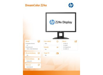 HP 24'' Z24x DreamColor IPS LED Display  E9Q82A4