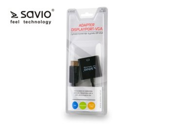 Elmak SAVIO CL-90 Adapter DisplayPort - VGA, blister