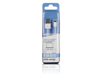 Whitenergy Kabel iPhone 5|6 - USB 100cm Biały