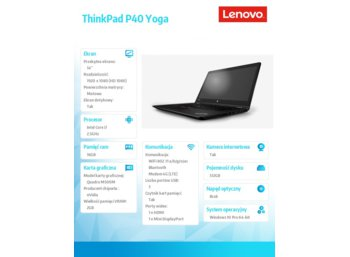 Lenovo ThinkPad P40 Yoga 20GQ000KPB