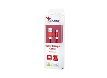 Adata Kabel USB-microUSB 1m Red alu-knit