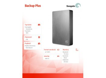 Seagate Backup Plus 4TB 2,5'' STDR4000900 silver