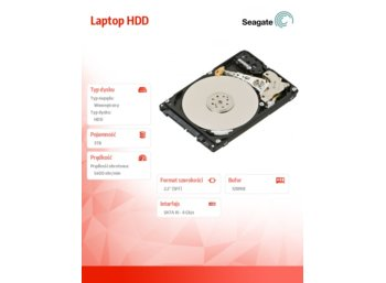 Seagate Laptop HDD 3TB 2,5'' 128MB, ST3000LM016