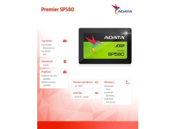 Adata SSD Premier SP580 120GB S3 560/410 MB/s TLC