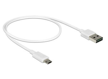 Delock Kabel Micro USB AM-BM DUAL EASY-USB 50cm White