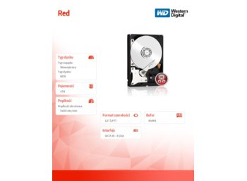 Western Digital Red WD40EFRX 4TB 64MB  SATAIII 5400rpm