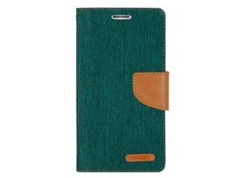 Mercury Etui CANVAS iPhone 6/6s zielono/karmelowe, notes