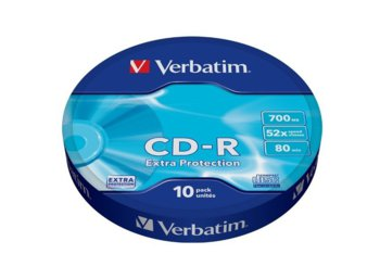 Verbatim CD-R 52x 700MB 10P SP Extra Protection Wrap 43725