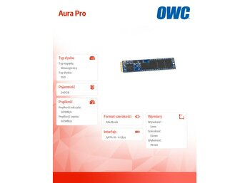 OWC Aura Pro SSD 240GB Macbook Air 2012 500MB/s 60k IOPS