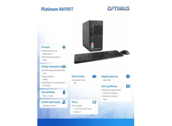 OPTIMUS Platinum AH110T i5-7400/4GB/1TB/DVD/W10Pro