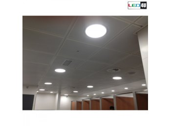 Maclean Panel LED natynkowy slim 18W Cold white 5500-6500K Led4U LD155C Fi225*H40mm