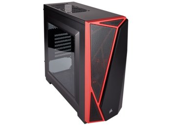 Corsair CARBIDE SERIES SPEC-04 Windowed ATX Mid-Tower Gaming Case - Black/Red