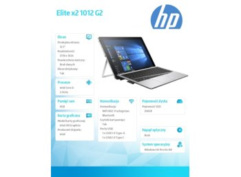 HP Inc. Elite x2 1012 G2 i5-7200U 256/8GB/12,3'    1KE33AW