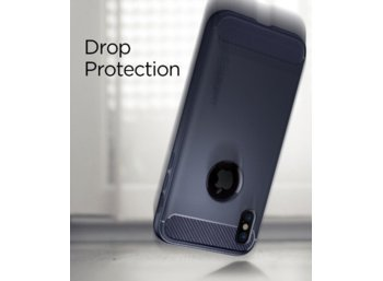 SPIGEN SGP  Rugged Armor Midnight Blue etui iPhone X